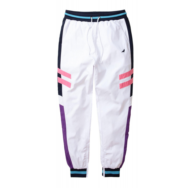 Staple Pigeon - Athletic Nylon Pant White 1