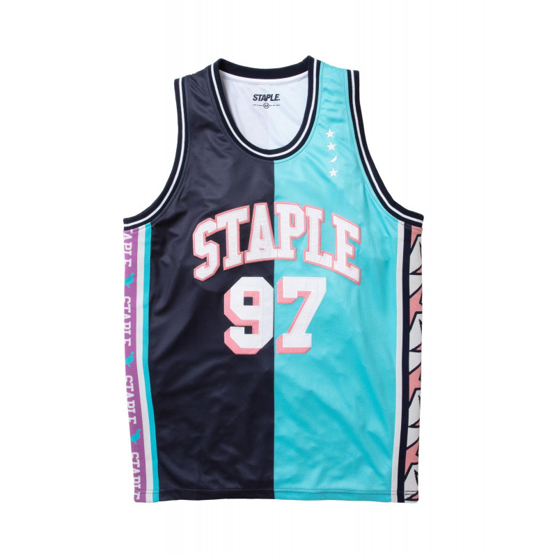 Staple Pigeon - Collegiate Basketball Jersey Teal 1