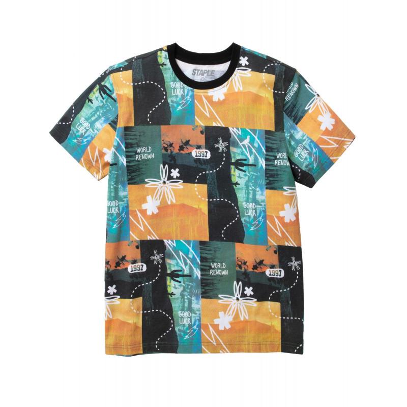 Staple Pigeon - Souvenir All Over Print Tee Orange 1