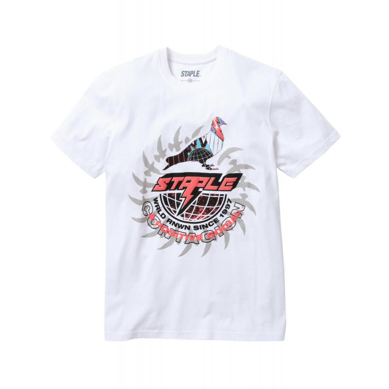 Staple Pigeon - Lightning Pigeon Tee White 1