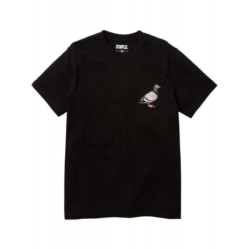 Staple Pigeon - Pigeon Pocket Tee Black 1