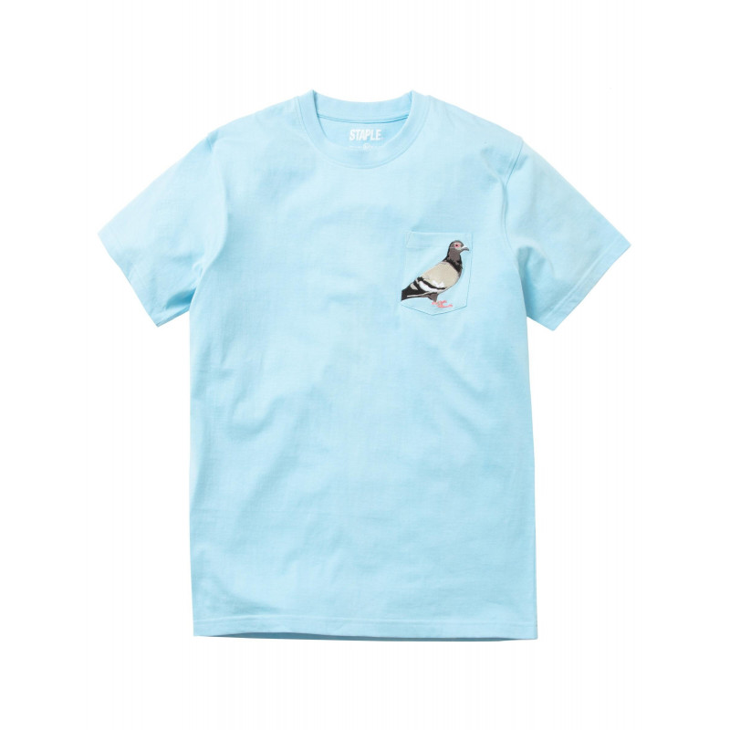 Staple Pigeon - Pigeon Pocket Tee Light Blue 1