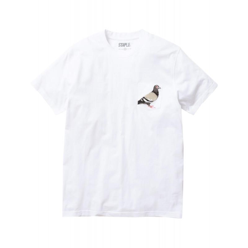 Staple Pigeon - Pigeon Pocket Tee White 1