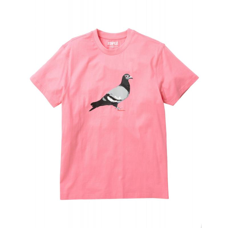 Staple Pigeon - Pigeon Logo Tee Pink 1