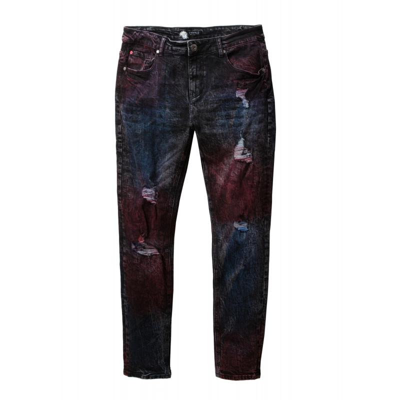 Staple Pigeon - Spray Denim Pant Black 1