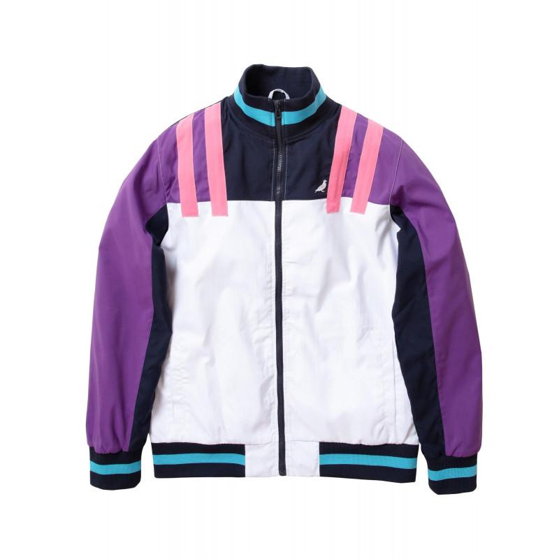 Staple Pigeon - Athletic Nylon Jacket White 1