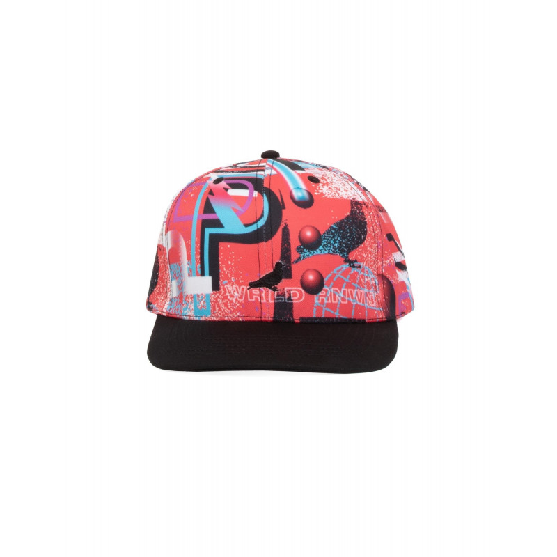 Staple Pigeon - AOP Neon Sport Snapback Red 1