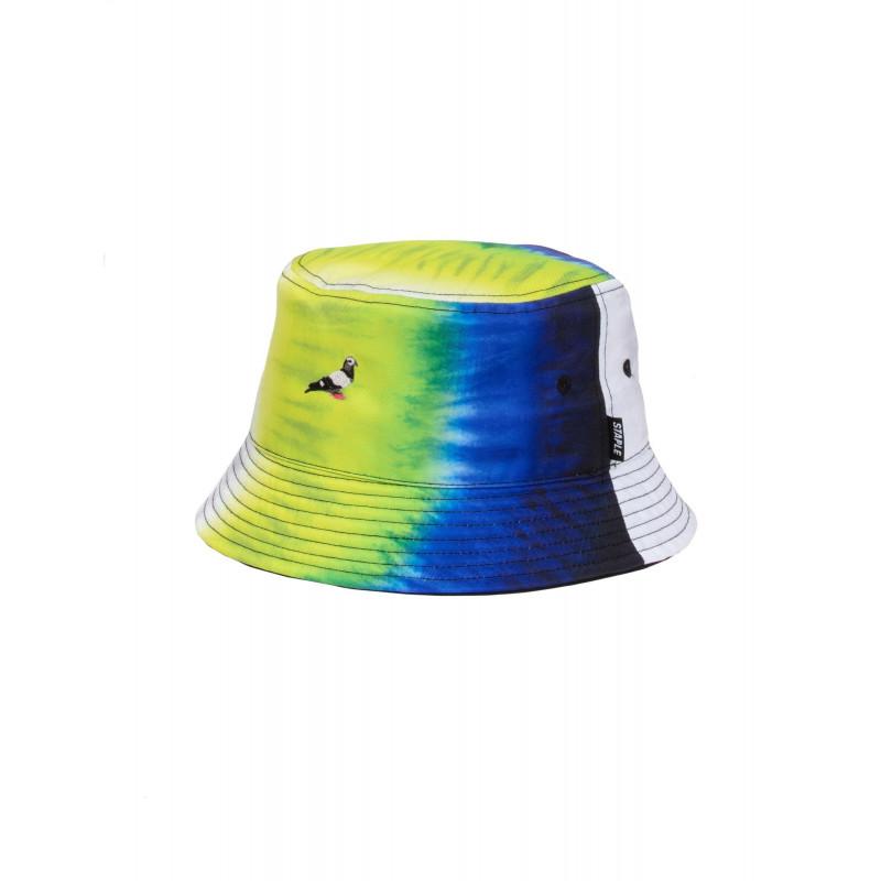 Staple Pigeon - Printed Bucket Hat Neon Green 1