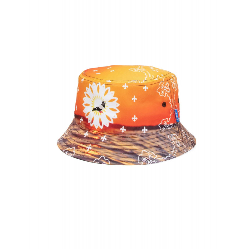 Staple Pigeon - Printed Bucket Hat Orange 1