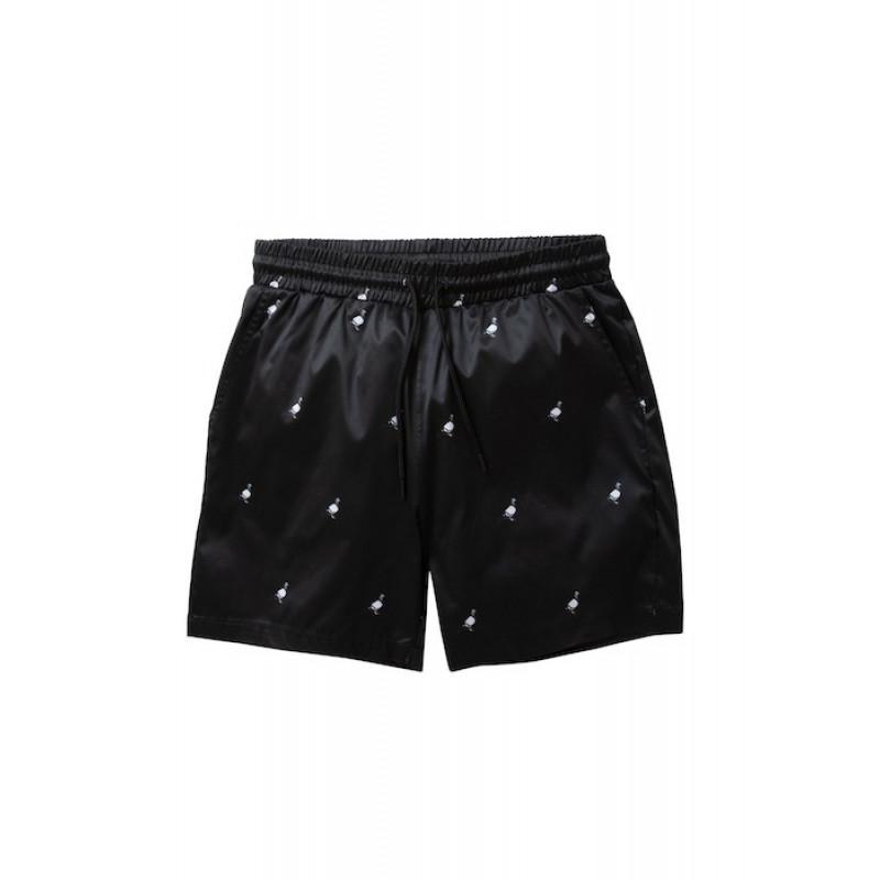 Staple Pigeon - All Over Pigeon Swim Shorts Black 1