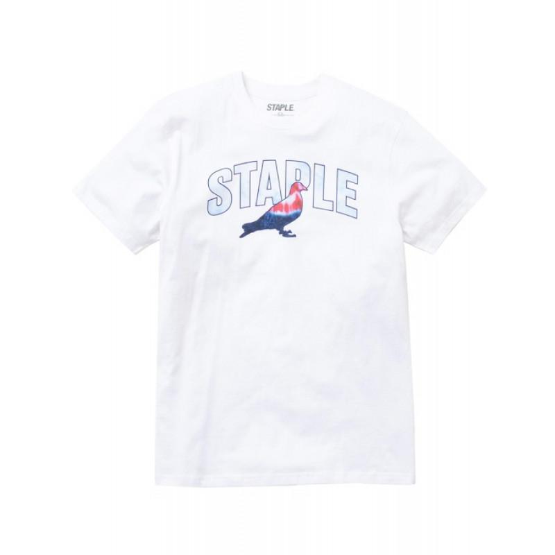 Staple Pigeon - Tie Dye Logo Tee White 1