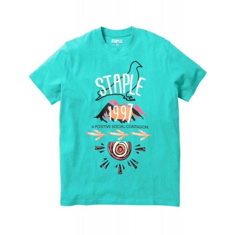 Staple Pigeon - Trails Logo Tee Teal 1