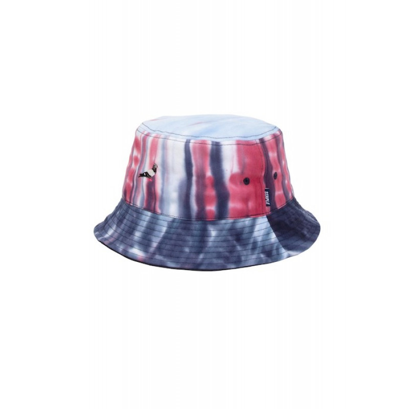 Staple Pigeon - Tie Dye Bucket Hat Navy 1