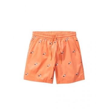Staple Pigeon - All Over Pigeon Swim Shorts Peach 1