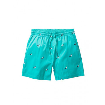 Staple Pigeon - All Over Pigeon Swim Shorts Teal 1