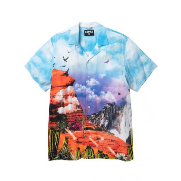 Staple Pigeon - Canyon All Over Print Camp Shirt Multi 1