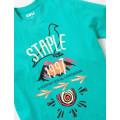 Staple Pigeon - Trails Logo Tee Teal 2