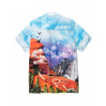 Staple Pigeon - Canyon All Over Print Camp Shirt Multi 2