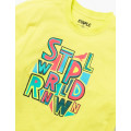 Staple Pigeon -  Letters Graphic Tee Neon Green 2